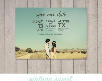 Save the Date Card / Magnet (Printable) by Vintage Sweet