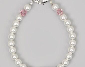 Heart  Initial Baby Bracelet (BPHC)