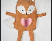 Sewing Pattern Fox Hot Water Bottle Cover PDF