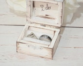 Rustic I DO ring bearer box