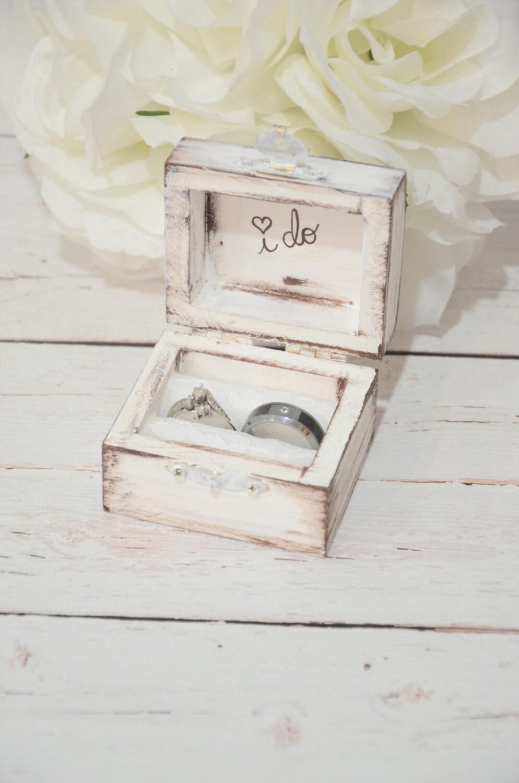rustic i do ring bearer box. Black Bedroom Furniture Sets. Home Design Ideas