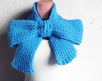 snood scarves - Bow Scarf, knitted chunky scarf, fashion accessories teens, Bow Neck Warmer, Cozy Knit, oversized bow scarf, huge bulky bow