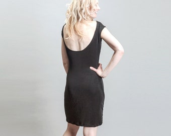 Open back or backless LBD Mini Cocktail Dress
