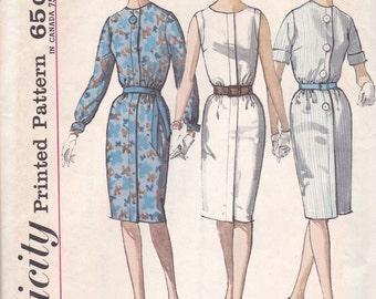 1960s Dress Pattern Simplicity 4985 Size 12 Uncut