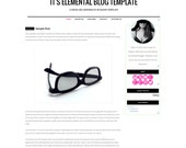 It's Elemental Blogger Template - Neon Minimalist Blogger Theme - Simple Blogger Template Clean Blogger Blog Design