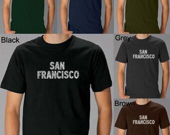 Men's T-shirt - Created using San Francisco's most popular neighborhoods