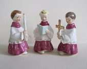 Napco Figurines with Gold details - Christmas decor - made in Japan