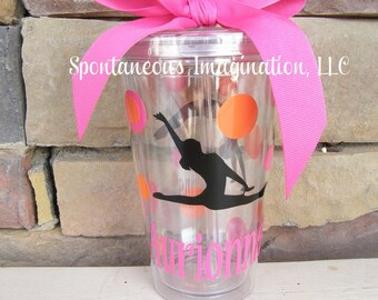 Personalized Acrylic Tumbler- Gymnastic Gift