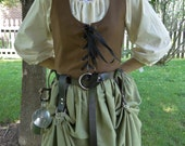 Pair Skirt Hikes, 2 Leather Skirt Chasers, Medieval Renaissance - Choose Your Color