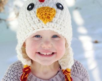 Chicken Hat, PDF Crochet Pattern, photo prop, winter hat, haloween hat, chicken costume, chicken costume, crochet baby hat patterns
