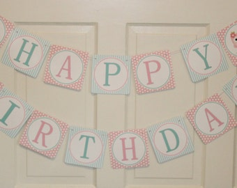 LOOK WHOOO'S .... OWL Theme Birthday or Baby Shower Party Banner Pink Aqua - Party Packs Available
