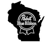 Pabst Blue Ribbon | Wisconsin Pride | Vinyl Decal