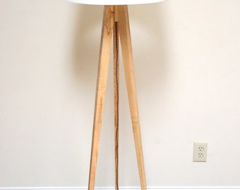 Tripod Floor Lamp Slim - Wormy Maple