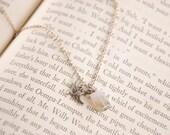 Tiny Diving Sparrow Pendant Dangle Necklace