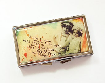 7 Day pill case, 7 Day pill box, Pill Container, Inspirational, Friendship, Pill Case, 7 day, 7 section, Pill box (4185)
