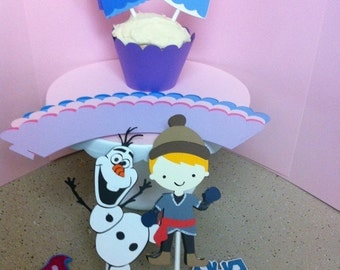Frozen Inspired Cupcake Toppers & Wrappers Sets