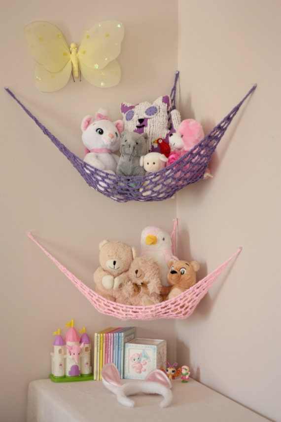 Stuffed Animal Toy Storage: Set Of TWO MINI Lovey Corral Toy Hammock In Your