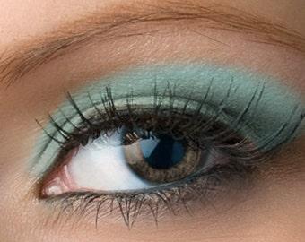 "Matte Robin Egg Blue Eyeshadow - ""Robin's Egg"" - Light Pastel Turquoise Mineral Eyeshadow color Net Wt 2g Large (Vegan)"