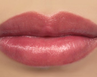 "Vegan Lipstick - ""Opulence"" (semi-sheer natural berry pink lipstick) lip tint, balm, lip colour mineral lipstick"