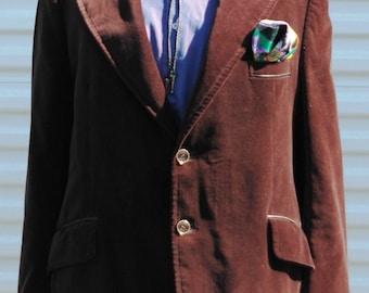 46 Mens Vintage Velveteen Blazer