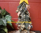 Christmas Tree, Raggedy Homespun Tree with Mini Yo Yo Ornaments