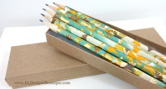 Luxurious Japanese Washi Pencils Set of 5