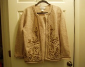5 D SALE Linea Wool Embroidered Sweather Size S