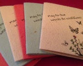 Plantable Card - Seed Paper Card - May All Your Weeds Be Wildflowers
