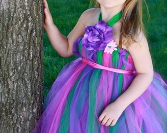 Woodland Fairy Tutu Dress with large Fairy Wings 3t, 4t, 5t,6