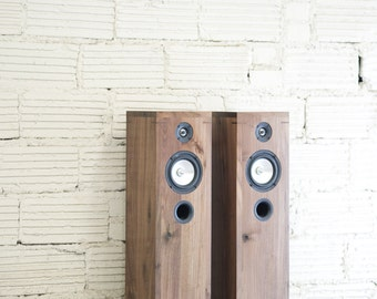 Walnut Speakers - 2 Way Furniture Style Hi-Fi Modern
