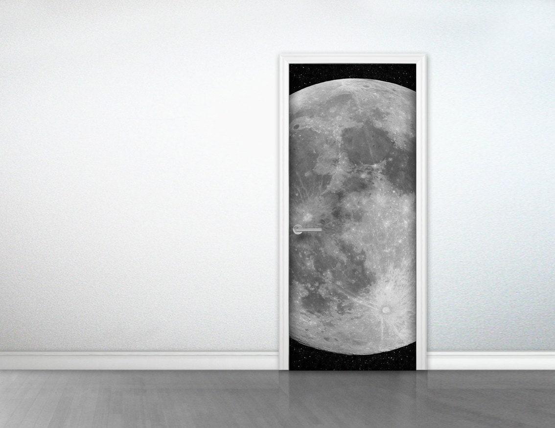 Door To The Moon Sticker Full Moon Door Deco Sticker