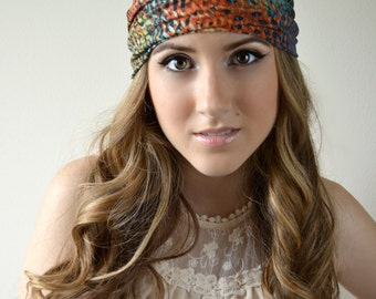 "Spotted headband, Spotted head band-5"" wide"