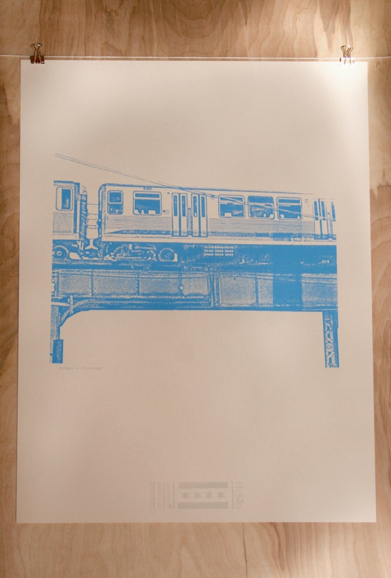 Chicago Blue Line PRINT