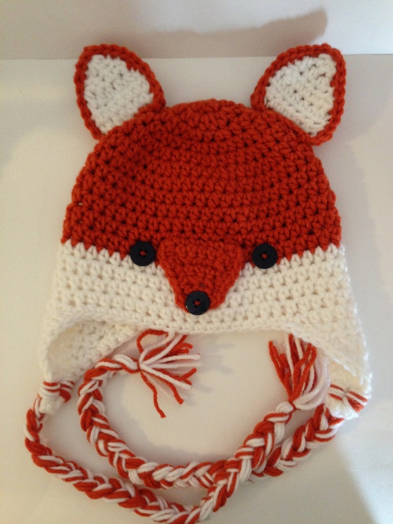 Crochet Fox Hat : Silly Little Fox Hat Pattern by grammabeans on Etsy