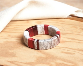 SALE HERFE Large Statement Bangle, Color Block Bracelet