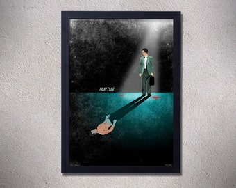 Fight club poster,alternative movie poster,fight club,brad pitt,Edward Norton,art,design,movie poster,CHRISTMAS