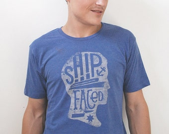 Men's Nautical Anchor T-shirt // graphic shirt men // illustrated navy t-shirt // Father's Day gift for him // Boyfriend Gift // Funny shirt