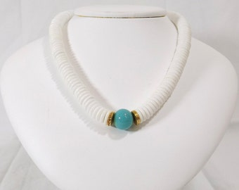 ACCESSOCRAFT Turquoise and White Choker Necklace