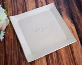 Wedding Gift, Engagement Gift or Signature Guestbook Platter - Personalized with Names - Gift boxed