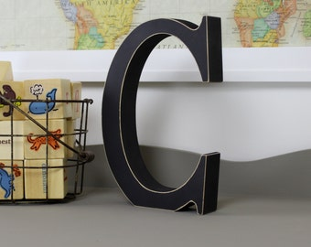 Wood Letters - Free Standing Distressed Wooden Letters - Alphabet Decor Letter C