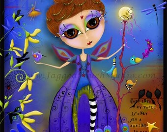 "Title: ""Come Into My World"". Inspirational and colorful Giclee Art Print."
