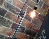 Edison Bulb Floor Lamp - Industrial Style - Bare Bulb Light - Steampunk Lamps