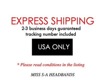 Express Shipping to USA 2-3 business days guaranteed + tracking #
