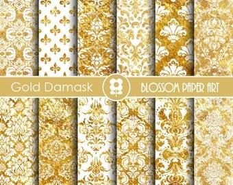 Popular items for decoupage para imprimir on etsy for Papel decorativo dorado