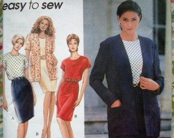 Simplicity Misses'/Petite Misses' Dress And Jacket Pattern 9413 - Size 8-10-12-14