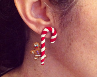 GingerBread Man hanging on candy cane