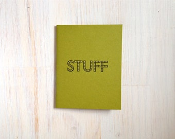 Medium Notebook: Stuff, Green, Funny, Kids, Blank Journal, Wedding, Favor, Journal, Blank, Unlined, Unique, Gift, Small, Notebook, A295