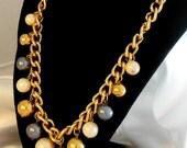 "Vintage Necklace AVON  ""Fashion Bead"" Large Pearl Dangle"