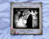 8x10 Distressed vintage photo frame Today a Groom, Tomorrow a Husband, Forever your Son 8x10 Frame Flowers Wedding Frame