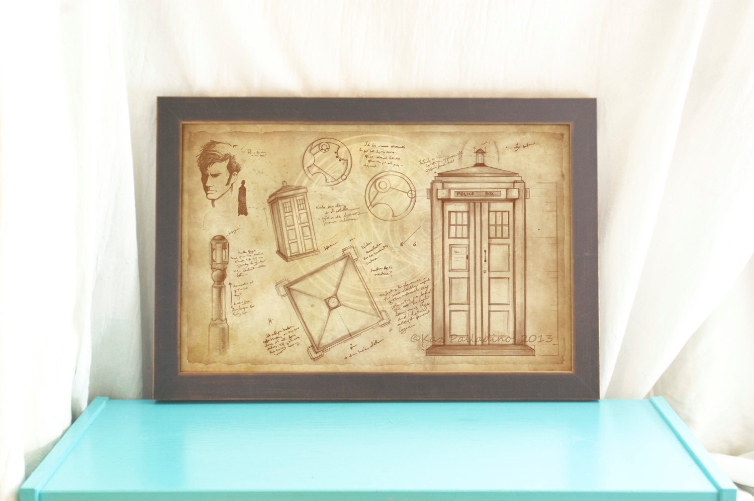 The Tardis The Doctor Doctor Who Poster Vintage Style